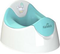 Детский горшок Kidwick Трио / KW090101 (белый/бирюзовый) -