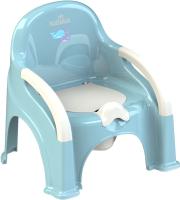 Детский горшок Kidwick Премьер / KW110202 (голубой/белый) -