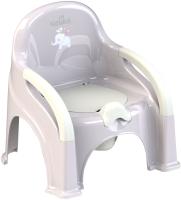 Детский горшок Kidwick Премьер / KW110402 (серый/белый) -