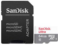 Карта памяти SanDisk MicroSDXC (Class10) 64GB (SDSQUNR-064G-GN3MA) -