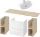 Комплект мебели для ванной Cersanit Moduo 120 + Street Fusion 70 -