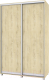 Шкаф Modern Роланд Р64 + Р14 (ирландский дуб) -
