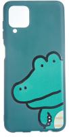 Чехол-накладка Bingo Print для Galaxy A12 (крокодил) -