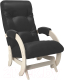 Кресло-глайдер Импэкс 68 (дуб шампань/Vegas Lite Black) -