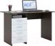Письменный стол MFMaster Милан (0120) / МСТ-СДМ-00-ВБ-03 (венге/белый) -