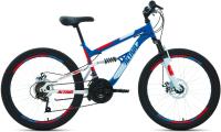 Велосипед Forward Altair MTB FS 24 Disc 2021 / RBKT1F14E004 (14.5, синий/красный) -