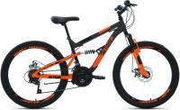 Велосипед Forward Altair MTB FS 24 Disc 2021 / RBKT1F14E005 (14.5, темно-серый/оранжевый) -