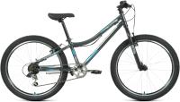 Велосипед Forward Titan 24 1.2 2021 / RBKW1J146003 (12, темно-серый/бирюзовый) -