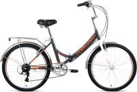 Велосипед Forward Valencia 24 2.0 2021 / RBKW1YF46005 (16, серый/бежевый) -