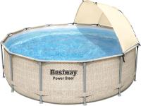Каркасный бассейн Bestway Steel Pro Max 5614V (396x107, с фильтр-насосом, лестницей и навесом) -