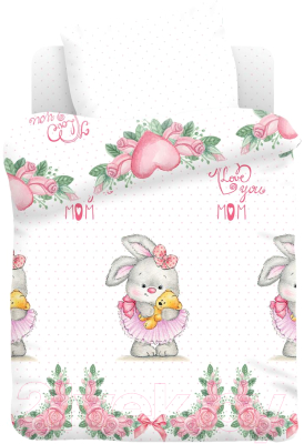 Комплект постельный детский Непоседа Juno. Зайка балерина / 695862