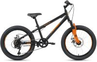 Детский велосипед Forward Altair MTB HT 20 2.0 Disc 2021 / RBKT11N06002 (10.5, черный/оранжевый) -