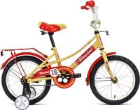 Детский велосипед Forward Azure 16 2021 / 1BKW1K1C1003 (бежевый/красный) -