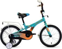Детский велосипед Forward Crocky 16 2021 / 1BKW1K1C1017 (бирюзовый/оранжевый) -