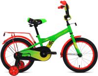 Детский велосипед Forward Crocky 16 2021 / 1BKW1K1C1015 (зеленый/желтый) -