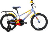 Детский велосипед Forward Meteor 18 2021 / 1BKW1K1D1031 (серый/желтый) -