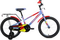 Детский велосипед Forward Meteor 18 2021 / 1BKW1K1D1030 (серый/красный) -