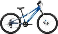 Велосипед Forward Rise 24 2.0 Disc 2021 / RBKW1J347008 (11, синий/белый) -