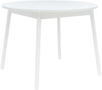 Обеденный стол Импэкс Leset Мидел круглый (металл белый/стекло белое) -