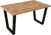 Обеденный стол Импэкс Leset Ларс (черный/дуб) -