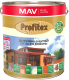 Защитно-декоративный состав MAV Profitex (10л, красное дерево) -