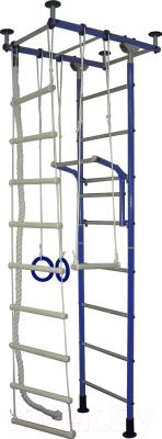 Детский спортивный комплекс Крепыш Г-образный (синий)