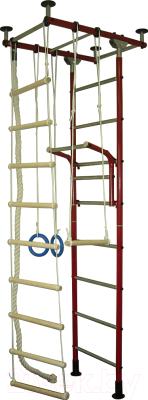 Детский спортивный комплекс Крепыш Г-образный (бордовый)