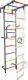 Детский спортивный комплекс Крепыш Г-образный пристенный (с ПВХ покрытием, серый) -