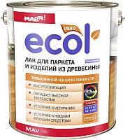 Лак MAV Ecol для паркета (3л, глянцевый) -