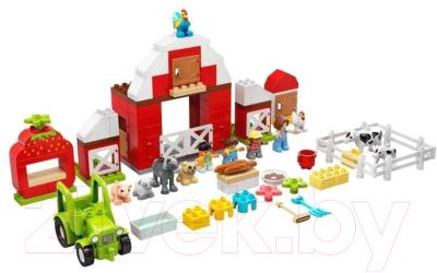 Конструктор Lego Duplo Фермерский трактор, домик и животные / 10952