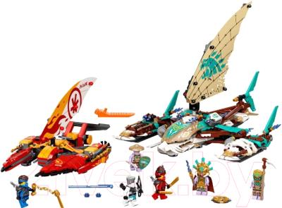 Фото - Конструктор Lego Ninjago Морская битва на катамаране / 71748 конструктор lego ninjago 70599 дракон коула