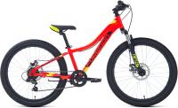 Велосипед Forward Twister 24 2.2 Disc 2021 / RBKW1J347027 (12, красный/зеленый) -