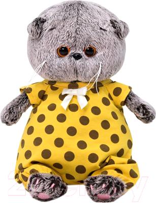 Фото - Мягкая игрушка Budi Basa Басик Baby в комбинезоне в горох / BB-065 игрушка мягкая budi basa басик baby в шапке панда 20 см bb 070