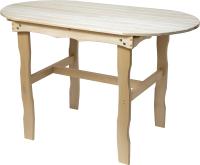 Стол для бани Парилочка Овальный 1200x760x600 -