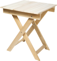 Стол для бани Парилочка Раскладной Квадратный Усиленный 600x600x750 -