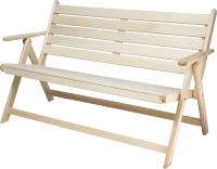 Скамья для бани Парилочка Раскладная 1200x870x550 (с подлокотниками) -