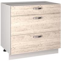 Шкаф-стол кухонный Anrex Alesia 3S/80-F1 (серый/сосна винтаж) -