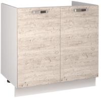 Шкаф под мойку Anrex Alesia 2D/80-F1 (серый/сосна винтаж) -