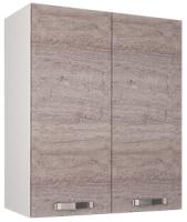 Шкаф навесной для кухни Anrex Alesia 2D/60-F1 (серый/дуб анкона) -