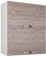 Шкаф навесной для кухни Anrex Alesia 2DG/60-F1 (серый/дуб анкона) -