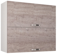 Шкаф навесной для кухни Anrex Alesia 2DG/80-F1 (серый/дуб анкона) -