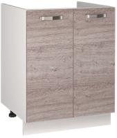 Шкаф под мойку Anrex Alesia 2D/60-F1 (серый/дуб анкона) -