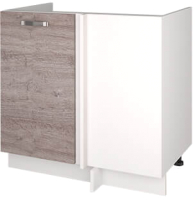 Шкаф под мойку Anrex Alesia угловой 1D/80 F1 (серый/дуб анкона) -