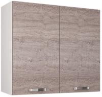 Шкаф навесной для кухни Anrex Alesia для сушки посуды 2D/80-F1 (серый/дуб анкона) -
