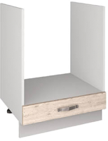 Шкаф под духовку Anrex Alesia 1S/60 F1 открытый (серый/сосна винтаж) -