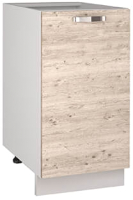 Шкаф-стол кухонный Anrex Alesia 1D/40-F1 (серый/сосна винтаж) -