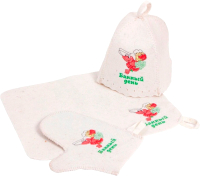 Набор текстиля для бани Банная Линия Банный день / 11-372 -