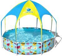 Каркасный бассейн Bestway Steel Pro Splash-in-Shade 56432 (244x51) -