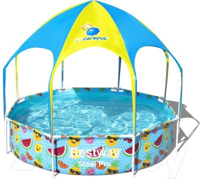Фото - Каркасный бассейн Bestway Steel Pro Splash-in-Shade 56432 детский бассейн bestway splash and play 57241