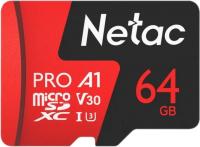 Карта памяти Netac MicroSD Card P500 Extreme Pro 64GB (NT02P500PRO-064G-R) (с адаптером) -